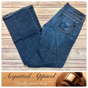 Citizens of Humanity Low Waist Flair Leg Jeans